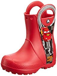 Crocs Boys Handle It Rain Boot Disney McQueen PS Red Rubber Boots - C8