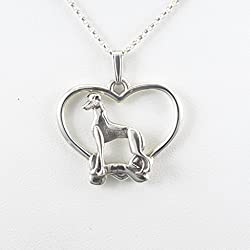 Sterling Silver Whippet Pendant From Donna Pizarro's Animal Whimsey Collection