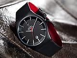 Detomaso VIAREGGIO Black/Black DT1049-C Classic DT1049-C - Reloj analógico de cuarzo para hombre, correa de cuero color negro