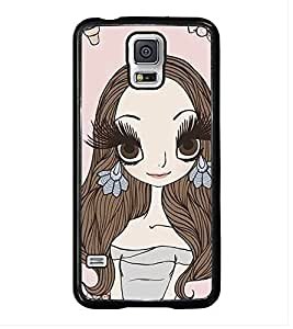 Fuson Premium 2D Back Case Cover Hairy girl With Multi Background Degined For Samsung Galaxy S5 Mini::Samsung Galaxy S5 Mini G800F