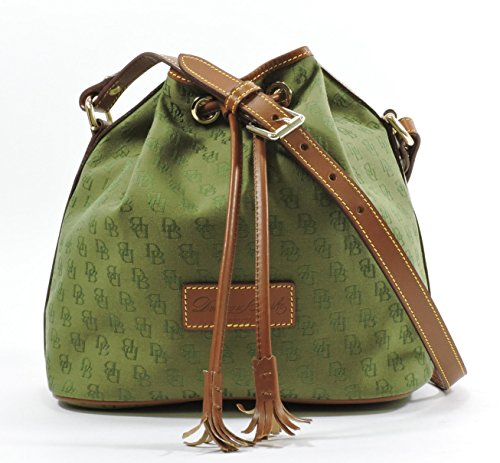 Dooney & Bourke Medium Signture Drawstring Bag,Olive
