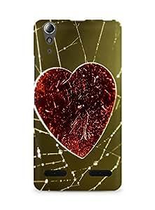 Amez designer printed 3d premium high quality back case cover for Lenovo A6000 (Love Heart On The Cobweb)
