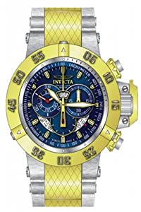Invicta Men's 80507 Subaqua Quartz 3 Hand Blue Dial Watch