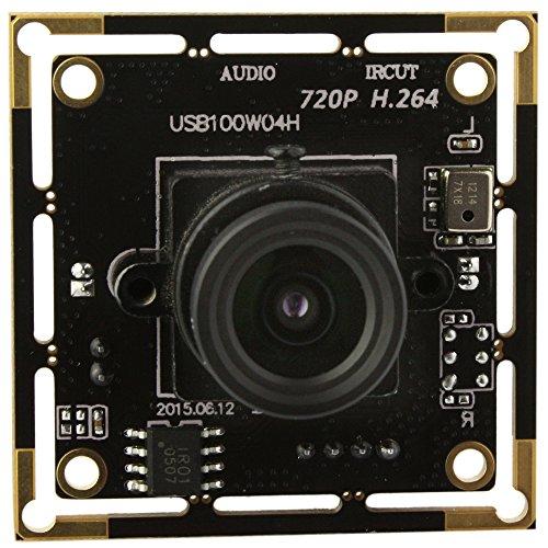 ELP 720p Volle HD H.264 USB-Kamera-Module Support Android Linux-Windows-Betriebssystem für die Videoüberwachung (2.8mm Objektiv)