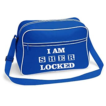 I Am Sher Locked Sherlock Holmes Shoulder Bag - available in 4 Colours (Blue)