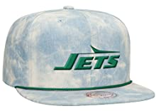 New York Jets NFL Lite Acid Wash Denim Snapback Cap by Mitchell & Ness