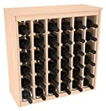 36 Bottle Deluxe Wine Rack in Pine