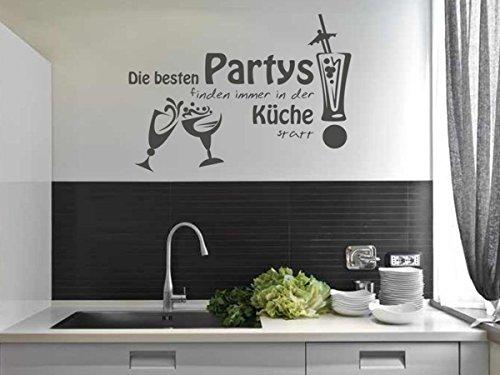 wandtattoo bilder wandtattoo die besten partys finden immer in der k che statt nr 4 gr e. Black Bedroom Furniture Sets. Home Design Ideas