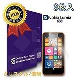 オンビデ - Nokia Lumia 630 用液晶保護フィルム, クリスタル/透明 (3枚入)【並行輸入品】