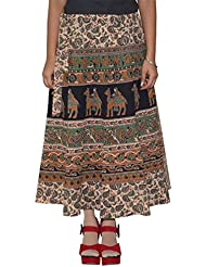 Gurukripa Shopee Women's Cotton Wrap-around Skirt (Multicolor) - B01I1DBAE2