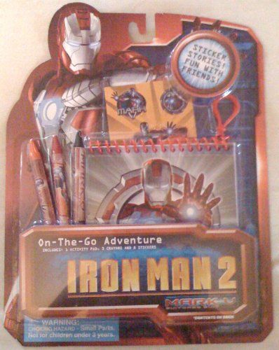 Iron Man2 On The Go Travel Fun Stickers/Stories/Crayons