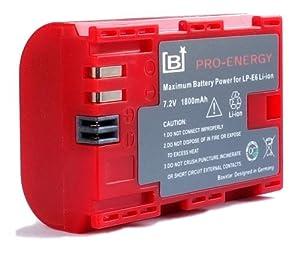 """Bundlestar BAXXTAR PRO ENERGY Batterie de qualité pour Canon LP-E6 avec Info Chip - Système de batterie intelligent """"prochaine génération"""" pour Canon EOS 70D 60D 60Da 7D 7D Mark II 5DS 5D R 5D Mark II III"""