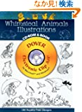 Whimsical Animals Illustrations CD-ROM and Book (Dover Electronic Clip Art)