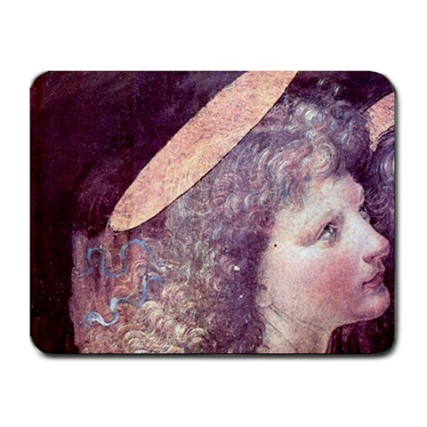 The Baptism Of Christ Detail A By Leonardo Da Vinci Mouse Pad front-837772