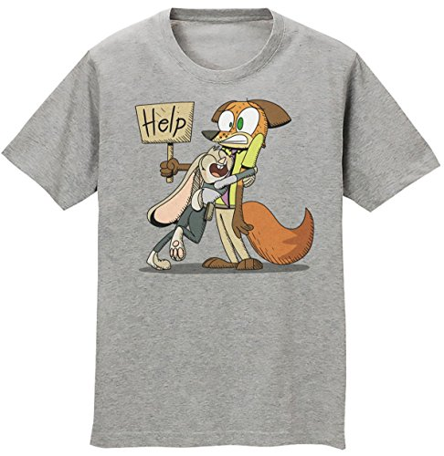 Judy Hopps And Nick Wilde From Zootopia Men's T-shirt Extra Large