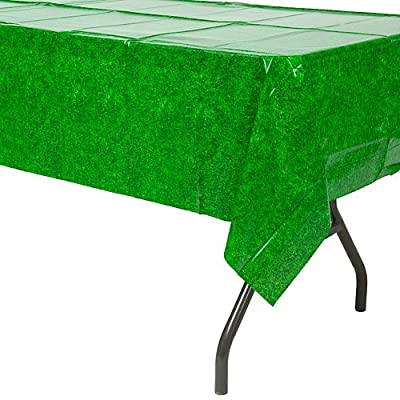 Green Grass Plastic Tablecover from Amscan