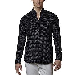 Lisova Men's Formal Shirt (LI/SHRT/098_Black_X-Large)
