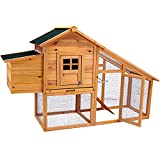 Hoddmimis Transparent Roof Cedar Chicken Coop PS-CCC02