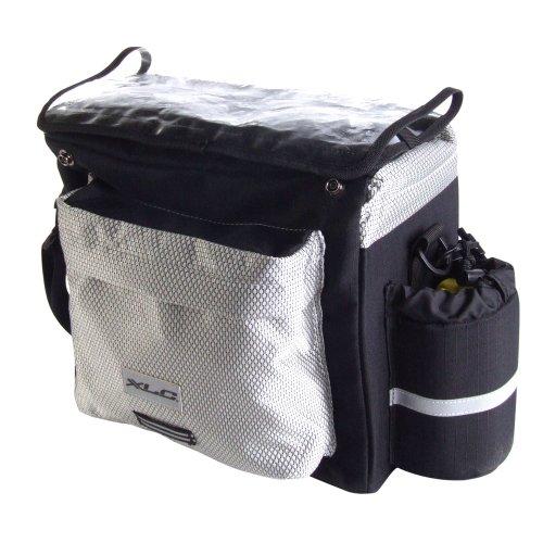 XLC Handlebar Bag w/ Map Sleeve, Silver/Black