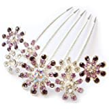 Fashion Women Lady Peacock Full Crystal Rhinestones Hairpin Hair Clip