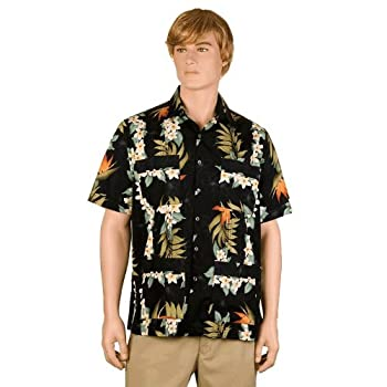 Black Bird of Paradise Hawaiiabera Shirt