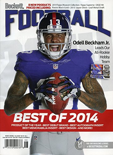 Current Beckett Football Monthly Price Guide Card Value Magazine June 2015 Odell Beckham Jr Cover 07447099768