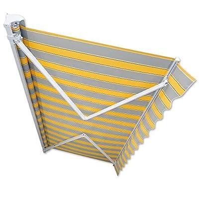 Kassetten-Markise 3 x 2,5 m gelb-grau Hülsenmarkise Gelenkarmmarkise Sonnenschutz von Jawoll auf Gartenmöbel von Du und Dein Garten