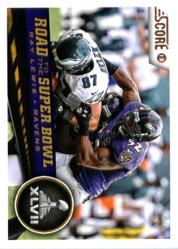 2013 Score NFL Football Trading Card 261 Ray Lewis Road to the Super Bowl Baltimore  Ravens ca9b82fe6