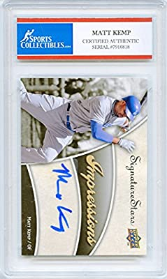 Matt Kemp Autographed Los Angeles Dodgers Encapsulated Trading Card - Certified Authentic