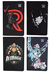 WWE Classic Superstar The Rock, Undertaker, RyBack & John Cena Combo of 4-Piece A6 Note Book / Diary, Soft Cover, Multi Color