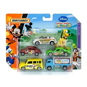 Matchbox Mickey Mouse Club House 5 Pack Cars