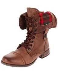 Steve Madden Women's Flannel Fold Down Boot