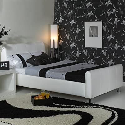 A & I Beds Stylish Snow 3Ft Single Faux Leather Bed Available