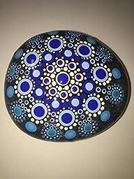 Hand Painted Mandala Stone #224