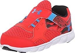 Kids Under Armour BINF Thrill RN AC Infant/Toddler, Rocket Red, 3 Infant M