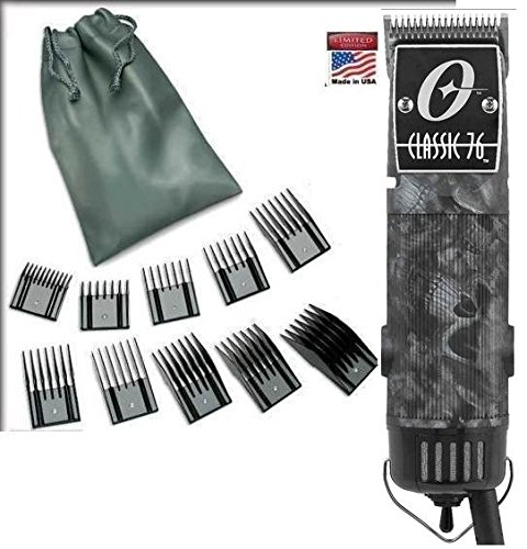 Oster Classic 76 Skulls Skulz Limited Edition Hair Clipper + 10 Piece Combs