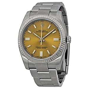 Rolex Oyster Perpetual Grape Dial Stainless Steel Mens Watch 116034WGSO