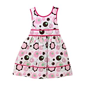 Sophie Fae Girls Patterned Summer Wear Special Occasion Dress with Bow