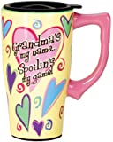 Spoontiques Grandma Travel Mug, Yellow