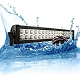 MicTuning 20''-22'' 120W LED light bar SPOT/FLOOD COMBO Light 7500lm INCLUDES WIRING HARNESS FUSE RELAY SWITCH