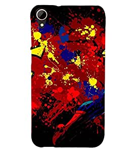 MULTICOLOURED MODERN ART SPRAY PIC 3D Hard Polycarbonate Designer Back Case Cover for HTC Desire 828 :: HTC Desire 828Q :: HTC Desire 828S :: HTC Desire 828G+ :: HTC Desire 828 G Plus :: HTC Desire 828 Dual Sim