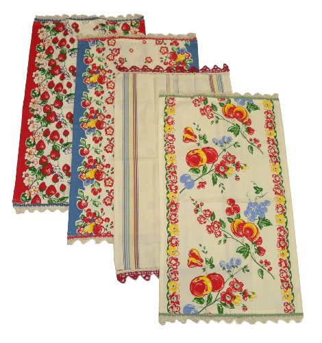 Berries Jubilee Kitchen Dish Towels By Moda, Set of 4