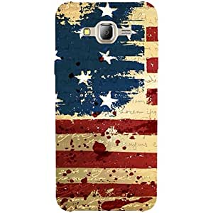 Casotec USA Flag Design 3D Printed Hard Back Case Cover for Samsung Galaxy J2 (2016)