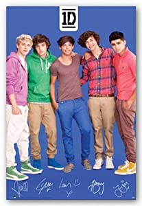 One Direction - Blue 24x36 Art Print Poster by Scorpio Posters