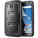 Nexus 6 Case, [Heave Duty] **Slim Protection** i-Blason Google Nexus 6 Phone Case Armorbox [Dual Layer] Hybrid Full-body Protective Case with Front Cover and Built-in Screen Protector / Impact Resistant Bumpers Cover for Motorola Nexus 6 Phone (Black)