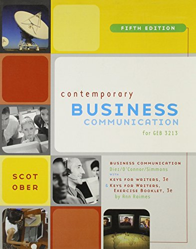 contemporary business communication fifth edition revised; custom publication