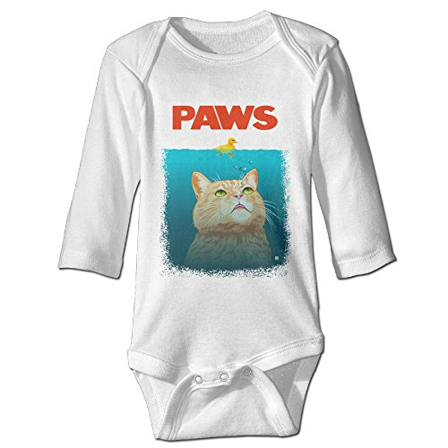 Funny Vintage Unisex Paws Cat Baby Onesie Baby-Boys And Girls (Protect Yo Neck compare prices)