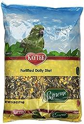 Kaytee Supreme Natural Blend Parrot Food, 5-Pound