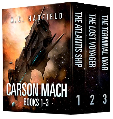 Carson Mach Adventures 1-3 Box Set by A.C. Hadfield cover