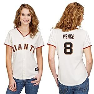 Hunter Pence San Francisco Giants Home Ladies Replica Jersey by Majestic Select... by majestic
